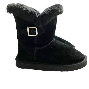 Style & Co Leather Faux Fur Winter Ankle Boots
